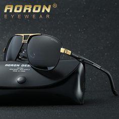 FuzWeb Men s Alloy HD Polarized Mens Sunglasses Men Mirror Square Goggle  Eyewear Accessories For Men db35d280e850