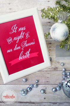 Free Christmas Printable! Remember the real reason for Christmas! #christmas #printable