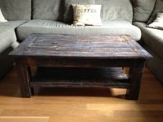 Pallet Coffee Table - finished and coated