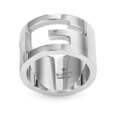 Fancy Gucci Sterling Silver G Cutout Band Ring Gucci Sterling Silver G Cutout Band Ring Women us