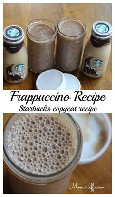Make your own refreshing Frappuccino! My Frappuccino recipe – Starbucks copycat – Momcrieff Starbucks Coffee, Starbucks Drinks, Coffee Drinks, Starbucks Mocha Frappuccino Recipe, Drinking Coffee, Homemade Frappuccino, Do It Yourself Essen, Smoothies, Gastronomia
