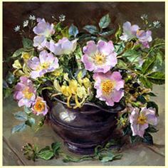 Briar Roses in Pewter by Anne Cotterill