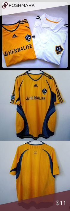 2 Los Angeles Galaxy Jerseys 2 Los Angeles Galaxy Jerseys. Size XL adidas Shirts