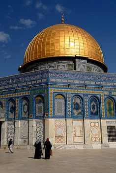 Dome of the Rock, Temple Mount, Jerusalem. One of the most beautiful, awe inspiring places I have ever been.