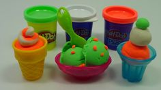 Play Doh Ice cream maker toy dolls Cupcakes playset Surprise Eggs Kinder...
