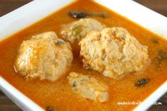 Coconut Curry Chicken Meatball Soup (grain free and dairy free) www.kateshealthycupboard.com