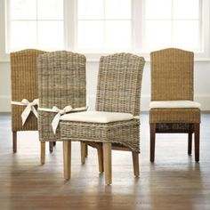set of 2 dayna side chairs wicker