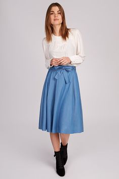 Order now for fast delivery on trend-led skirts from Joy the Store. Joy The Store, Chambray Skirt, Matilda, Midi Skirt, High Waisted Skirt, Spring Summer, Skirts, Shopping, Women