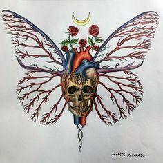 Skeleton Drawings, Skeleton Art, Metamorphosis Tattoo, Arte Cholo, Psychedelic Drawings, Psy Art, Grunge Art, Hippie Art, Dope Art