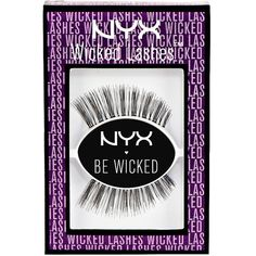 Charlotte Russe Jezebel NYX Wicked Lashes (€3,29) ❤ liked on Polyvore featuring beauty products, makeup, eye makeup, false eyelashes, black and charlotte russe