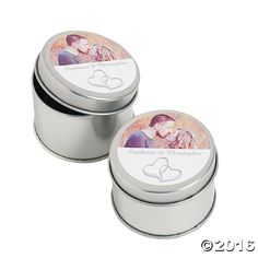 Two Heart Custom Photo Containers - OrientalTrading.com