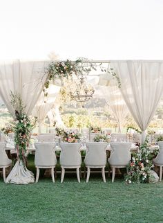 A whimsical reception complete with flowers.