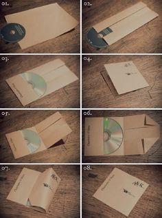 DIY CD case with one piece of paper