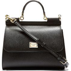 Dolce & Gabbana Black Pebbled Leather Miss Sicily Bag found on Polyvore