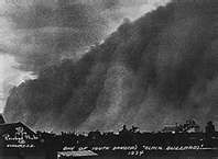 History 'Black Blizzard' on Oct. 12, 1934 massive dust storms of the 30's.  holy moly!