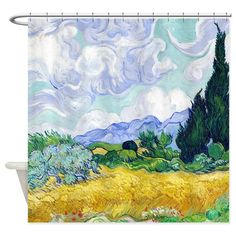 Van Gogh Wheat Field Cypresses Shower Curtain on CafePress.com