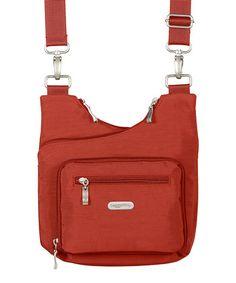 Look at this #zulilyfind! Tomato Crisscross Crossbody Bag by baggallini #zulilyfinds