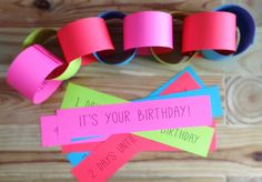 Birthday Countdown Chain & some other birthday tradition ideas at lifeyourway.net