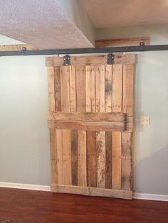 Pallet barn door blinds | My creations | Pinterest ...
