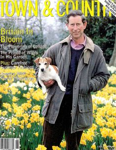 Prince Charles on the cover of Town and Country in Lady Diana Spencer, Charles And Diana, Charles Town, Photos Of Prince, Jack Russells, Rat Terriers, Duchess Of Cornwall, Family Album, Prince Of Wales