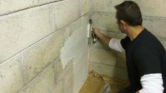 Stopper l'humidité dans un mur – Technology Updated Ideas Basement Gym, Basement Remodeling, Basement Ideas, Concrete Staircase, Tile Floor, Angles, Garage, Construction, Crafts