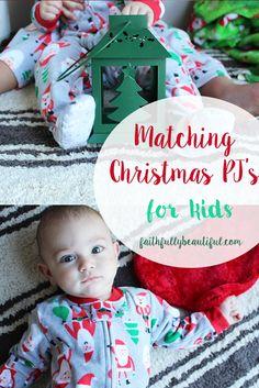 @Carter's Babies and Kids #LoveCarters #ad Christmas pj's for kids, Matching christmas pajamas, christmas eve traditions, christmas clothes for kids, christmas, gift guide for babies, baby christmas onesie, baby christmas pajamas