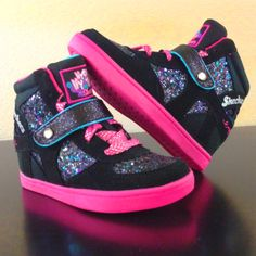 Kids fashion gets a little more fun with @SKECHERS USA USA USA HYDEE PLUS 2 wedged sneakers for girls.  #ShopWSS