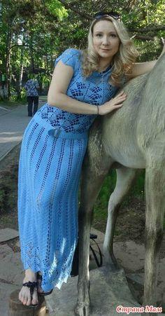 Ох... люблю я длинные платья... в них чувствуешь себя женственной!  Долго заглядывалась на всеми любимое платье Кайли Миноуг...(http://club.osinka.ru/ и на это лето я его связала!