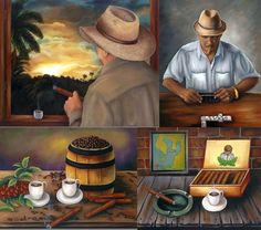 Oil painting  30x 24  Title : Cigars Collection by thebestart1122