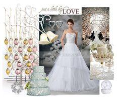 Christmas Wedding theme mood board supplies