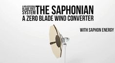 The Saphonian blade-less wind turbine costs less, produces more energy Waste To Energy, Save Energy, Green Technology, Cool Technology, Renewable Energy, Solar Energy, Wind Turbine Cost, Alternative Energy Sources, Energy Companies