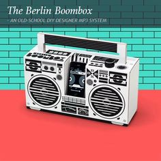 AN OLD-SCHOOL DIY DESIGNER MP3 SYSTEM. Berlin based illustrator and DJ, Axel Pfaender had a Eureka moment and in 30 days, raised $20 000 to bring his idea to life. When it finally materialised, it was the Berlin Boombox – a DIY MP3 system designed to simulate the look and feel of the 1980's ghetto blaster. It's where old school design meets new school technology. Brilliant! www.citymob.co.za