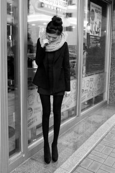 infiniti scarf over blazer