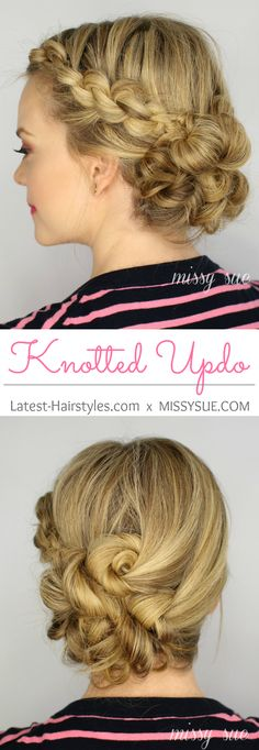 Easy Knotted Updo