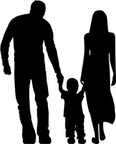 Free Image on Pixabay - Silhouette, Adoption, Parents, Boy Tattoo Nomes, My Images, Free Images, Mom Dad Tattoos, Family Tattoos, Silhouette Painting, Silhouette Family, Art Drawings Beautiful, Adopting A Child