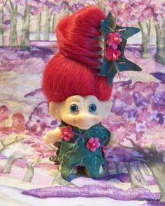 Vintage Dam Style Troll Doll OOAK