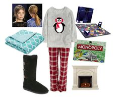 """Lauren Cuddles Up for Game Night"" by bearpawstyle on Polyvore featuring Bearpaw, Forever 21 and Southern Enterprises"