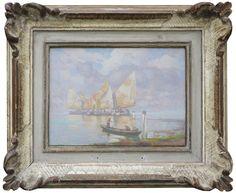 Emo Mazzetti - barche in laguna - Galleria Missaglia Italian Paintings, Emo, Venice, Boats, Frame, Boating, Frames, Emo Style, A Frame