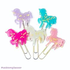 Unicorn paper clips have been restocked! Hurry and grab one before they sell out again! www.unicornplanner.com