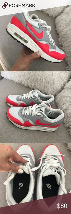 NIKEiD Air Max Worn many many times. There is little scratch on a back of left shoe (see picture). They are still in pretty good shape Nike Shoes Athletic Shoes Nike Id, Pretty Good, Fashion Tips, Fashion Design, Fashion Trends, Air Max, Nike Shoes, Athletic Shoes, Pairs