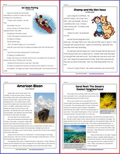 STW has a wonderful collection of reading comprehension articles for 1st through 5th grades, including some middle school material. Stock up on all your back-to-school reading comprehension worksheets today!
