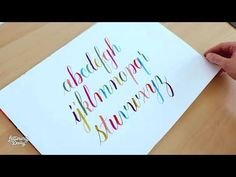 In this tutorial you will learn how to get started with modern calligraphy step-by-step. You can also download some FREE modern calligraphy practice sheets