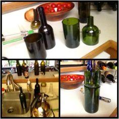 Bottle cutting success!!!!! Bottle Cutting, Wine Rack, Dean, Eye Candy, Success, Gift Ideas, Glass, Crafts, Home Decor