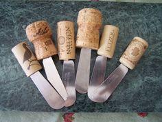 The Idea: Cork Canape Knives WOW what a FAB idea!