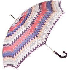 Missoni Matteo Hook Umbrella - No. 1 ($142) ❤ liked on Polyvore featuring accessories, umbrellas, pink, missoni umbrella, missoni and pink umbrella