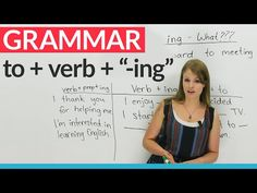 "English Grammar: How to use ""to"" before an ""-ing"" verb · engVid"