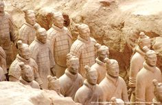 In Xi'an, you'll marvel at an army of life-size terra cotta warriors — over 7,000 strong, and one of the greatest archeological finds of the 20th century. #travel