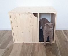 Hello and Welcome to PinkBau, Creative Corner for Pets located in Rovereto, Italy. All Our Items are Unique and Handmade with Love! ---------------------------------------------------------------- Cat Litter Box Cover / Pet House  A perfect handmade piece that is a great addition to any home