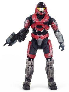 Halo Reach Series 1 SPARTAN MARK V Brick Red Steel Action Figure McFarlane Toys McFarlaneToys