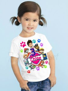 Hey, I found this really awesome Etsy listing at https://www.etsy.com/listing/237087598/paw-patrol-girls-birthday-shirt-paw